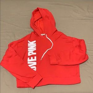 Red short hoodie from Pink